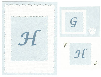 Examples of Personalized Initial Cards